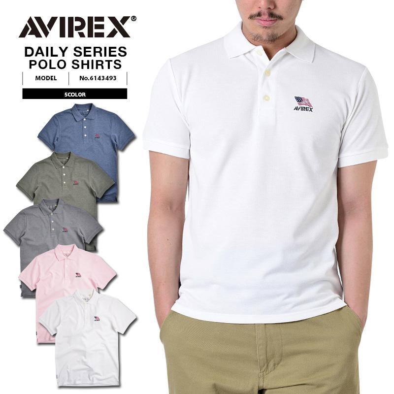 AVIREX アビレックス デイリーウェア 6143493 MELLANGE ポロシャツ5色