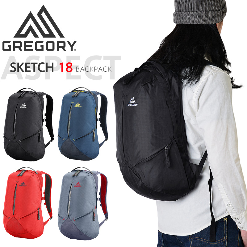 GREGORY グレゴリー SKETCH(スケッチ)18 バックパック 4色
