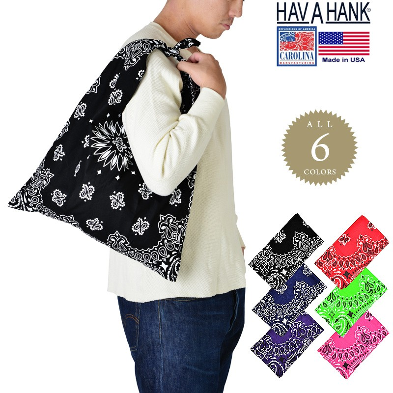 HAV-A-HANK ハバハンク MADE IN U.S.A. ペイズリートートバッグ6色
