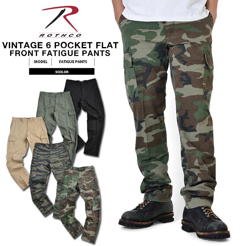 ROTHCO ロスコ 6ポケット VINTAGE FLAT FRONT ファティーグパンツ5色