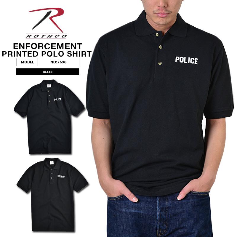 ROTHCO ロスコ 7698 BLACKT LAW ENFORCEMENT プリントポロシャツ2タイプ