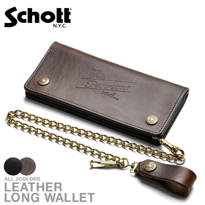 Schott ショット PERFECTO レザーロングウォレット