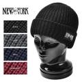New York Hat ニューヨークハット 4581 CHUNKY CUFF ニットキャップ New York Hatパッチ 4色