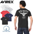 AVIREX アビレックス 6173351 USAコットン USN ANCHOR Tシャツ