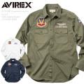 AVIREX アビレックス 6175148 U.S.A.F. 70th. ANNIVERSARY L/S カーキシャツ