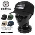 HOUSTON ヒューストン 6630 ベルクロ ワークキャップ U.S.AIR FORCE 4色