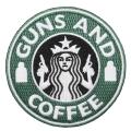 GUNS AND COFFEE ワッペン (パッチ)ベルクロ付き