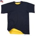実物 新品 米軍リバーシブル T-shirt NAVY/YELLOW