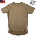実物 新品 米軍PCU LEVEL1 Tシャツ COYOTE BROWN(ラグラン)