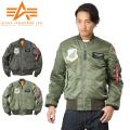 ALPHA アルファ MA-1 TIGHT フライトジャケット AIRCREW PATCH