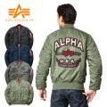 ALPHA アルファ TA0112 タイト MA-1 フライトジャケット BACK EMBLEM