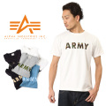 ALPHA アルファ TC1097 ARMY プリントTシャツ