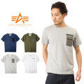 ALPHA アルファ TC1081 S/S M-65 ポケットTシャツ