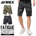 AVIREX アビレックス 6166119 FATIGUE SHORTS ファティーグ ショートパンツ CAMOUFLAGE