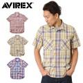 AVIREX アビレックス デイリーウエア 6145136 S/S マドラス チェックシャツ