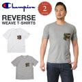 Champion チャンピオン カモ柄ポケット付リバースウィーブTシャツ C3-B369
