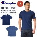 Champion チャンピオン リバースウィーブ インディゴ ポケットTシャツ C3-H307