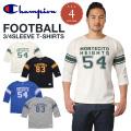 Champion チャンピオン 3/4スリーブ 7分袖 フットボールTシャツ C3-K401