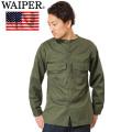 WAIPER 実物 新品 米軍 OG-507 ノーカラー ユーティリティーシャツ