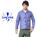 CHEVRE シェーブル SEH9035 モールスキン ベーシック ジャケット USED BLUE
