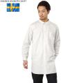 新品 スウェーデン軍 グランパシャツ ホワイト