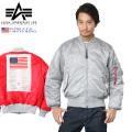 ALPHA USA アルファ 日本未発売 MA-1フライトジャケット BLOOD CHIT SILVER/RED