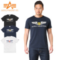 ALPHA アルファ TC1126 S/S プリント Tシャツ WING