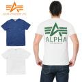 ALPHA アルファ TC1158 S/S ポケット Tシャツ ALPHA MARK バックプリント