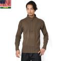 実物 新品 米軍 5ボタンヘンリーネックセーター
