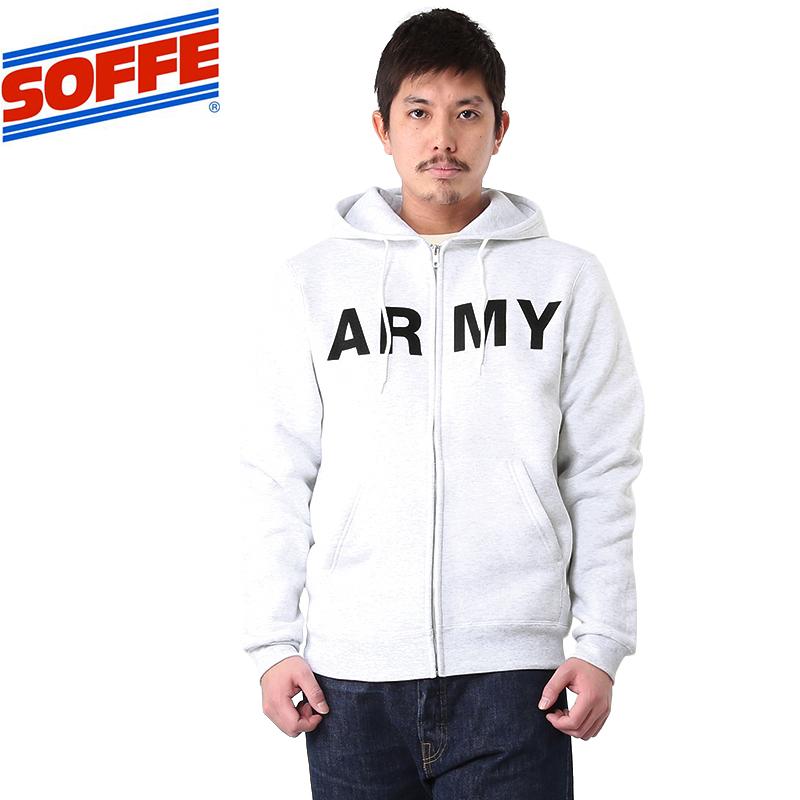SOFFE ソフィー US ARMYスウェットパーカー
