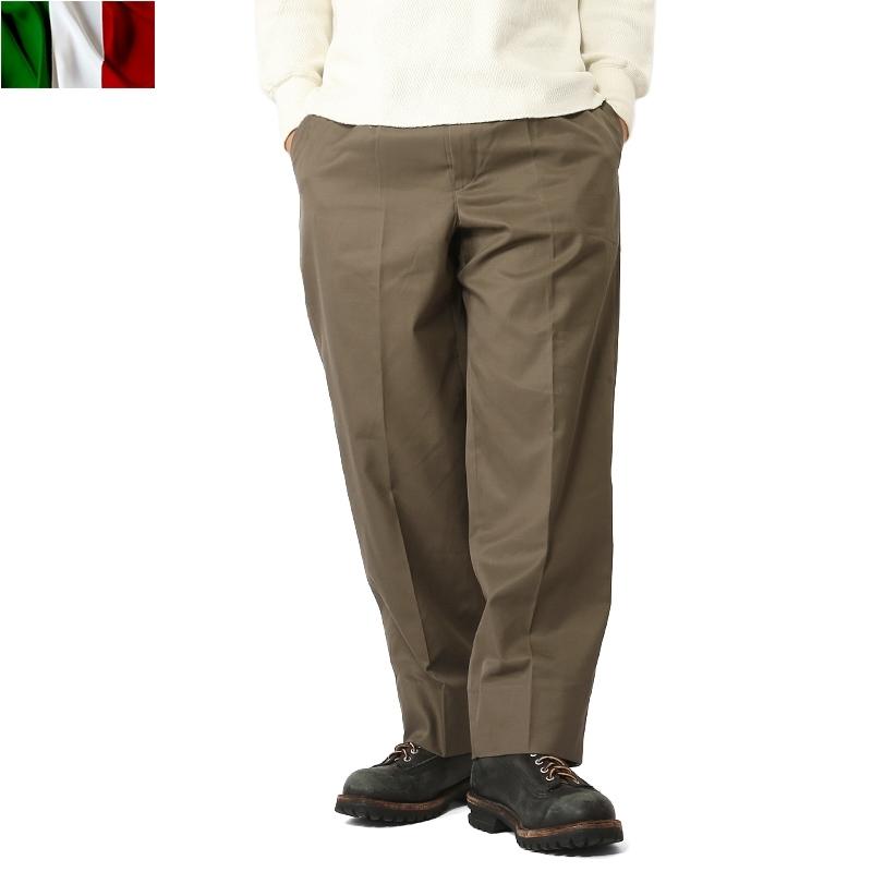実物 新品 イタリア軍チノパンツ