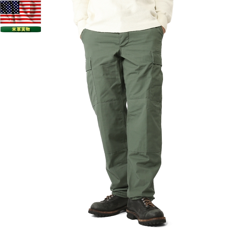 実物 新品 米軍 リップストップカーゴパンツ オリーブ